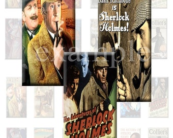 Sherlock Holmes 1x2 Inch...Dominos Digital Collage Sheet - 24 Images