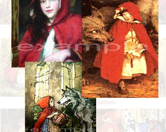 Little Red Riding Hood Digital Collage Sheet 1