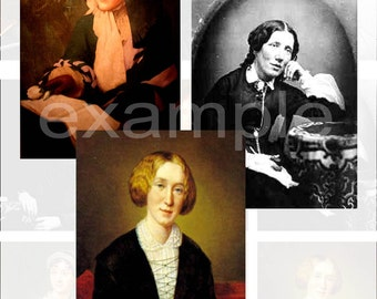 Famous Nineteenth Century Female Authors And Poets Digital Collage Sheet