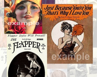 Flappers Digital Collage Sheet