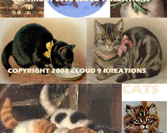 Cats Digital Collage Sheet