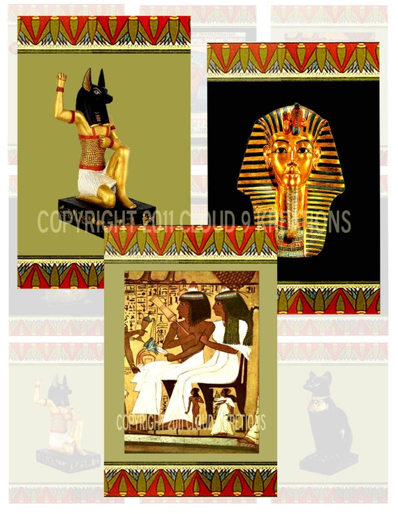Ancient Egypt...Altered Art...2.5x3.5 Inches...Digital Collage Sheet 2