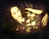 Ophelia Siren Child,11x14 inches Photographic Portrait of  Woman in Water