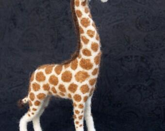Custom Giraffe - Needle Felted Wool Sculpture