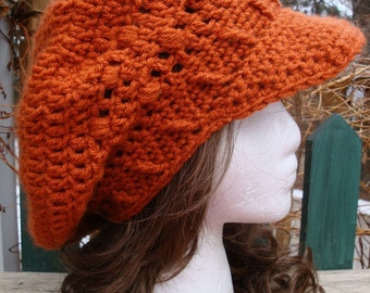 Celebrity Style Beret-Tam-Snood-Newsboy-Brimmed.....Burnt Orange