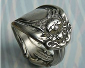Spoon Ring, Antique Silver Pattern: Hanover, Only 1 Left