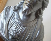 Vintage Silver Jesus Bust