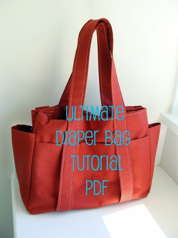 PDF Tutorial --- Watermelon Wishes Ultimate Diaper Bag --- How to sew 8 page guide