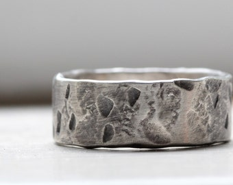 Industrial Fashion Distressed Mens Ring