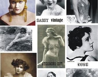SASSY vintage ladies sexy collage sheet