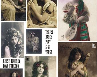 Gypsy 2 Collage sheet