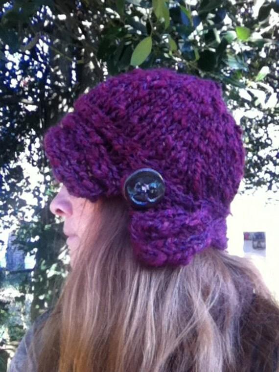 Knit Hat Pattern Us 10 : Sweetheart Cloche Hat PDF Knitting Pattern US 10.5 / 6.5 mm