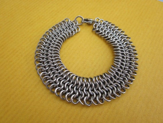 4 in 1 European chainmaille bracelet stainless steel