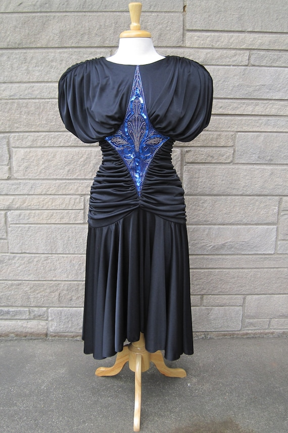vintage 1980s glam party dress. FREE U.S. SHIPPING