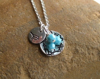 Mama Bird And Her Nest Necklace