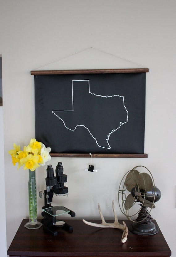 Chalkboard State Maps // Custom State Map Decor // 50 states // Texas // Ohio // California // New Jersey // New York // Michigan
