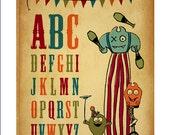 Monster Circus Alphabet Print 8x10