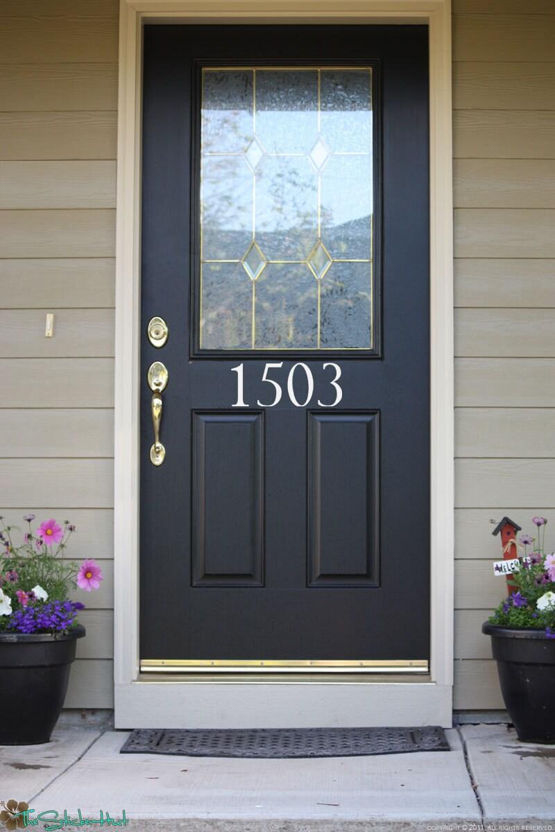 House Numbers Front Door Custom Wall Stickers Vinyl
