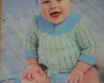 Pretty Baby .. Mignon Bebe .. PATTERN Book by Beehive Patons patterns number 420