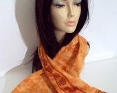 Vintage 60's/70's Signed Vera Scarf with Ladybug, Burnt Orange, Rectangular Shape, Unique