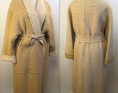 80s Escada Reversible Wrap Coat with Matching Skirt
