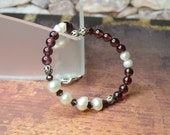 Team Colors Pearl and Gemstone Bracelet