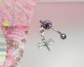 Sterling Silver Dragonfly Belly Button Ring