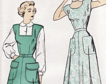 """New York 617 Ladies Jumper Dress Vintage Sewing Pattern FF 33"""" Bust"""