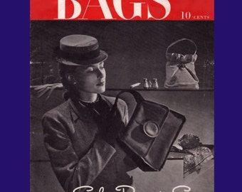 Vintage Sewing Pattern Booklet 8 Bags to Sew Lovely Purses and Clutches Digital Ebook PDF -INSTANT DOWNLOAD-