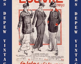 Vintage Fashion Paris May 1914 French Department Store Advertisment Booklet Ebook -INSTANT DOWNLOAD-