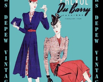 Vintage Sewing Pattern Catalog Booklet DuBarry Prevue PDF Copy From February 1939 -INSTANT DOWNLOAD-