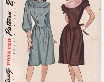 """Simplicity 1777 Vintage Misses Dress Sewing Pattern 30"""" Bust - Free Pattern Grading E-book Included"""