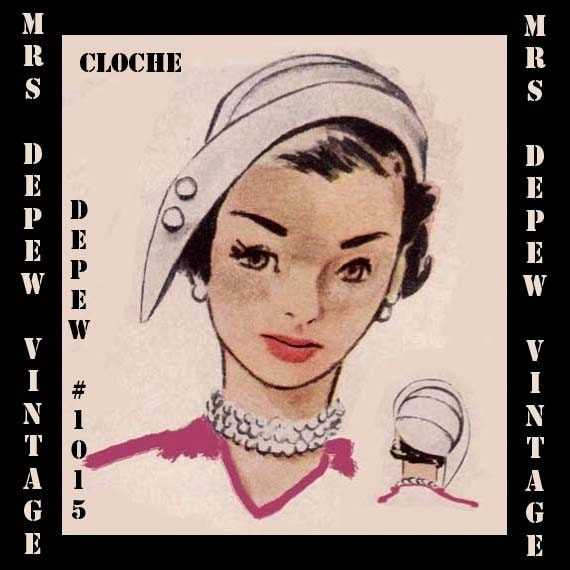 1950s Sewing Patterns | Swing and Wiggle Dresses, Skirts 1950s Cloche Hat PDF $7.50 AT vintagedancer.com