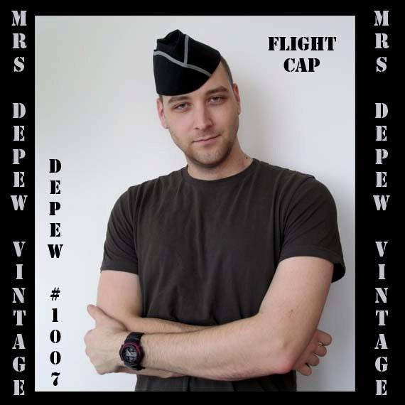 Menswear Vintage Sewing Pattern WWII Era Flight Cap Military Hat Printable Depew 1007 -INSTANT DOWNLOAD-