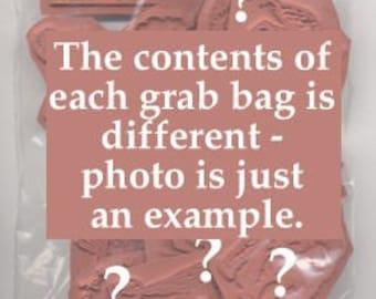 25 Piece Unmounted Rubber Stamp Grab Bag