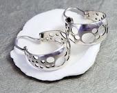 Silver Earrings, Sterling Silver Hoop Earrings, Silver Hoops, Modern Earrings, Bubbles Earrings, Unique Silver Earrings, Circle Earrings
