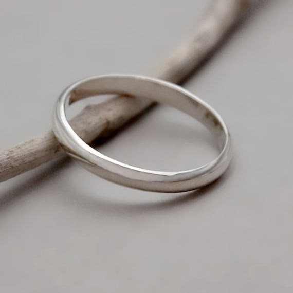 Simple Silver Wedding Rings For Women Simple Silver Band, St...