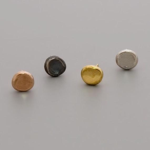 gold stud earrings simple earrings posts by toolisjewelry