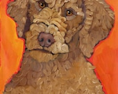 Labradoodle No. 2 - magnets, coasters and art prints