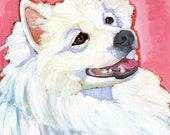 American Eskimo No. 1 - magnets, coasters and art prints in four sizes