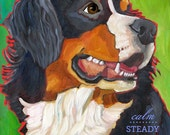 Bernese Mountain Dog No. 1 - magnets, coasters and art prints in four sizes