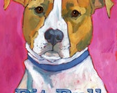 Pit Bull No. 2 - set of six blank note cards with coordinating envelopes