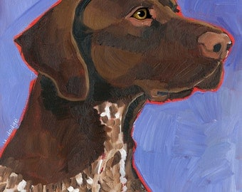 German Shorthaired Pointer No. 1 - set of 6 blank notecards with coordinating envelopes
