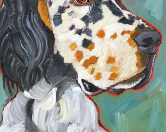 English Setter No. 3 -  magnets, coasters and art prints