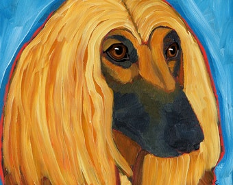 Afghan Hound No. 1 - magnets, coasters and four sizes of art print