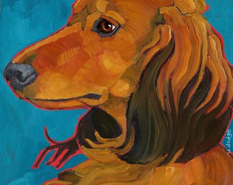 Dachshund No. 4 - magnets, coasters and art prints