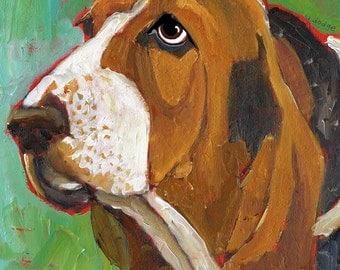 Basset Hound No. 2 - magnets, coasters, art prints