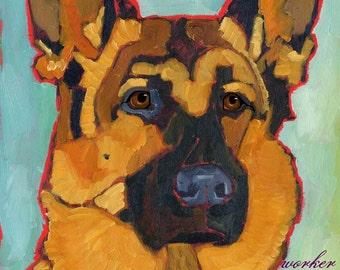 German Shepherd No. 1 - magnets, coasters and art prints