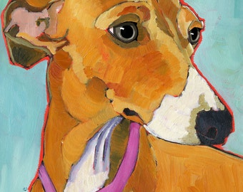 Italian Greyhound No. 2- magnets, coasters and art prints