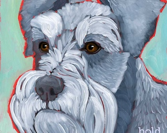 Schnauzer No. 1 - set of six blank note cards with coordinating envelopes